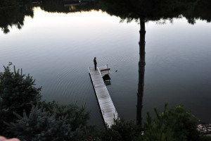 Lake dock at Cliffside Resort.