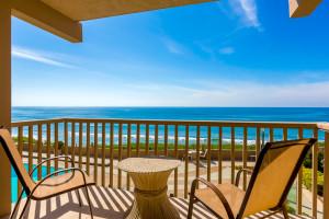 Vacation rental balcony view at Seabreeze Vacation Rentals, LLC.