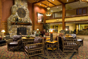 Lobby at Six Flags Great Escape Lodge & Indoor Waterpark