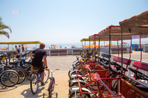 Bike and surrey rentals at Quality Inn Boardwalk Ocean City.