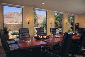Conference room at Red Mountain Resort.