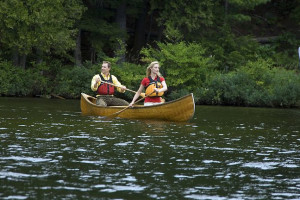 Canoeing at JW Marriott The Rosseau Muskoka Resort & Spa.