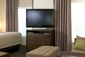 A Studio room at the Hyatt House Richmond-West.