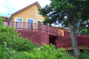 Exterior view of Kay's Chalet Newfoundland Vacation Home.