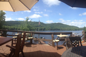 Deck view at Big Moose Inn.