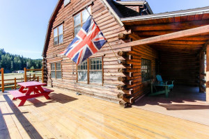 Vacation rental deck at Vacasa Rentals Mt Hood.
