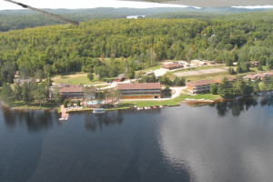 Aerial view of The Couples Resort.