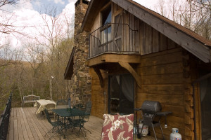 Cabin exterior at Azalea Falls Lodge.