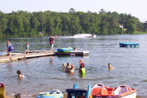 Lake activities at Shady Hollow Resort.