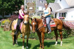Horseback riding at Three Stallion Inn.