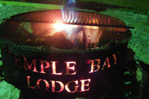 Campfire at Temple Bay Lodge