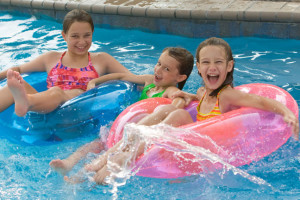 Floating down the Lazy River at Castle Rock Resort and Waterpark.