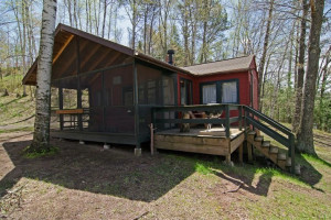 Cabin exterior at Delta Lodge.