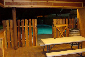 Outdoor pool at Moab Rustic Inn.