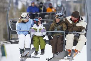 Ski lift at Crystal Springs Resort.
