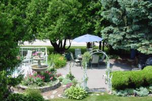 Garden view at Ephraim Guest House.
