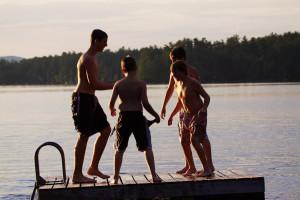 Family at Highland Lake Resort.