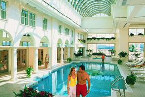 Indoor pool at Foxwoods Resort Casino.