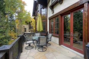 Rental patio at Beaver Creek Rentals by Owner.
