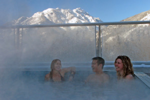 Hot pool at Inns of Banff.