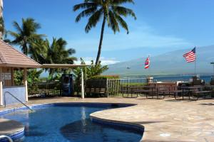 Outdoor pool at Island Sands Resort.