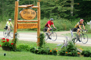 Biking at Elvyn Lea Lodge.