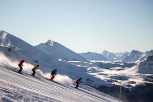 Skiing at Delta Banff Royal Canadian Lodge.