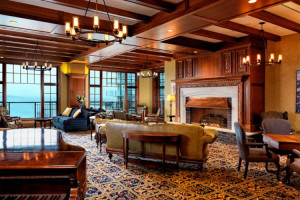 Grand lobby at Oak Bay Beach Hotel.