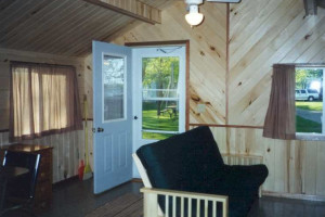 Cottage interior at Limmer's Resort.