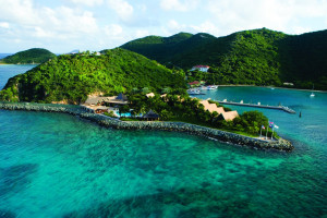 Exterior view of Peter Island Resort.