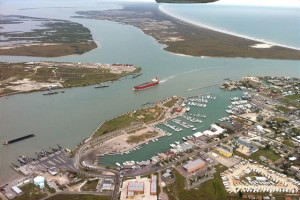 Aerial view of Port Aransas Escapes.