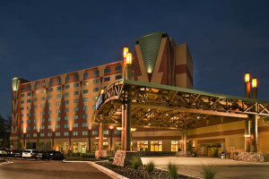 Exterior view of Meskwaki Bingo Casino Hotel.
