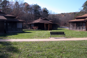 Cabin exterior at YMCA Trout Lodge & Camp Lakewood.