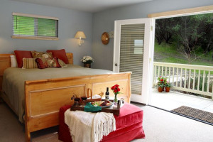 Guest room at Aurora Park Cottages.
