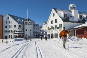 Skiing at Town Square Condominiums.