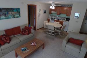 Cottage living room at A-Ga-Ming Golf Resort.