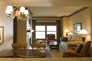 Guest suite at The Osthoff Resort.