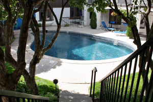 Outdoor pool at St. Moritz Lodge & Condominiums.