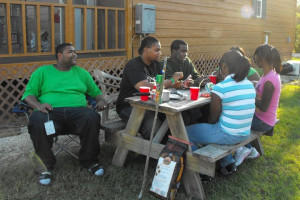 Family picnic at Lone Star Yogi.
