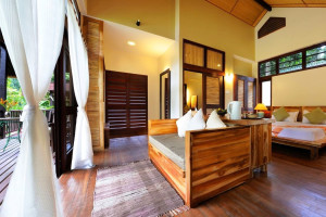 Guest room at Borneo Rainforest Lodge.