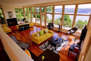 Riverknoll House living room at Buttermilk Falls Inn & Spa.