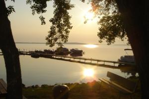 Sunrise at Sand Bay Resort.