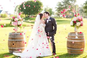 Wedding couple at Kingsmill Resort.