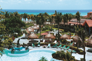 Outdoor pool at Riu Playacar.