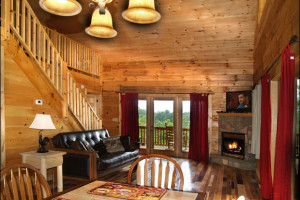 Cabin Interior at Mountain Vista Log Cabins