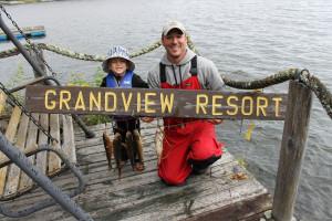 Fishing at Grandview Resort.