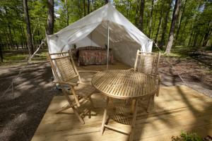 Camping at Darien Lake Resort.