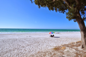 The beach at Anna Maria Vacations.