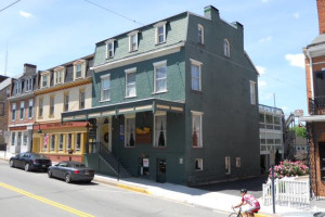 Exterior view of The Golden Eagle Inn.