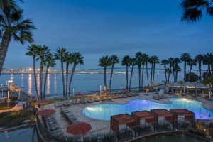Outdoor pool at Coronado Island Marriott Resort.